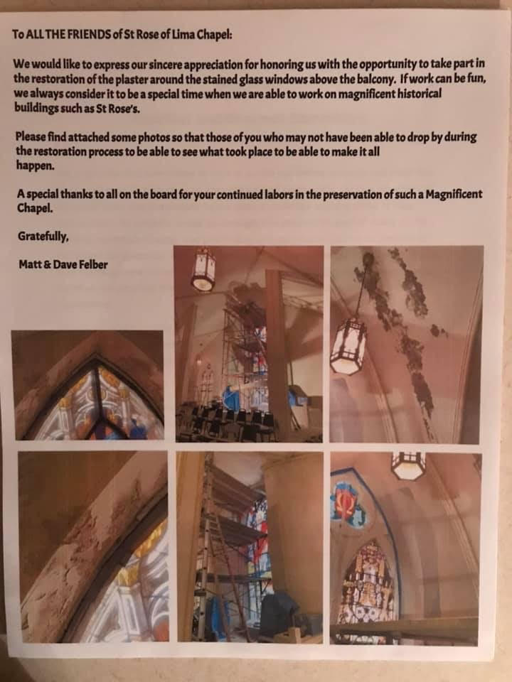 Restoration of plaster and stained glass